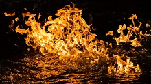 Condamine River CSG fire stunt goes viral